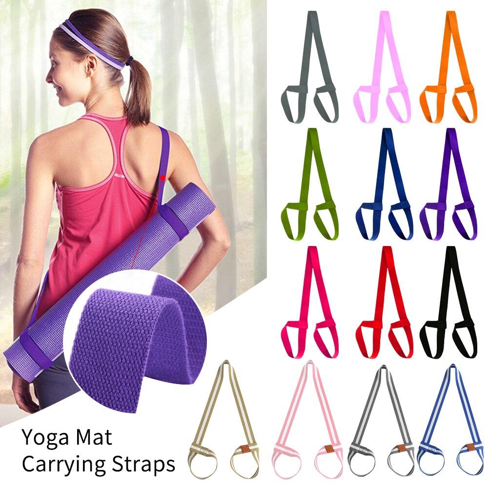 LOOZYKIT haute qualité tapis de Yoga sangle ceinture réglable sport fronde épaule porter ceinture exercice Stretch Fitness élastique Yoga ceinture