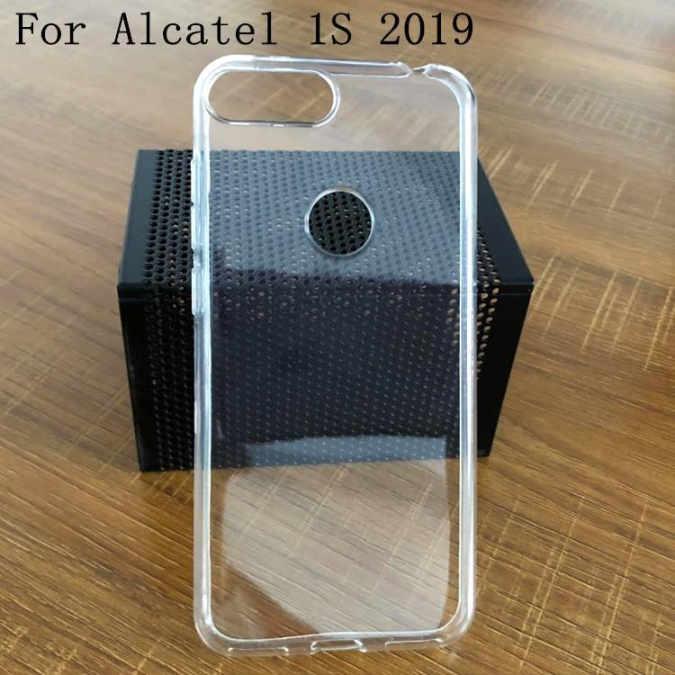 "Capa de silicone luxuosa e macia para alcatel, para celulares alcatel 1s 5024d 2019, 5.5 "", tampas traseiras para alcatel 5024d 2019 capa de escudo da coque"