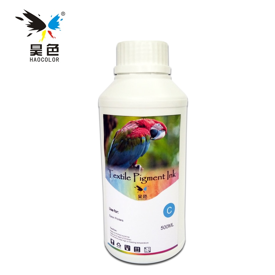 500ML color cian Digital tinta de pigmento textil ForFor Epson Stylus 1390, 1400, 1410, 1430, 1500W