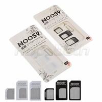 hopeboth 5000setlot 4 in 1 nano sim card adapter micro sim card adapter sim card adapter eject pin for iphone 5 6 7