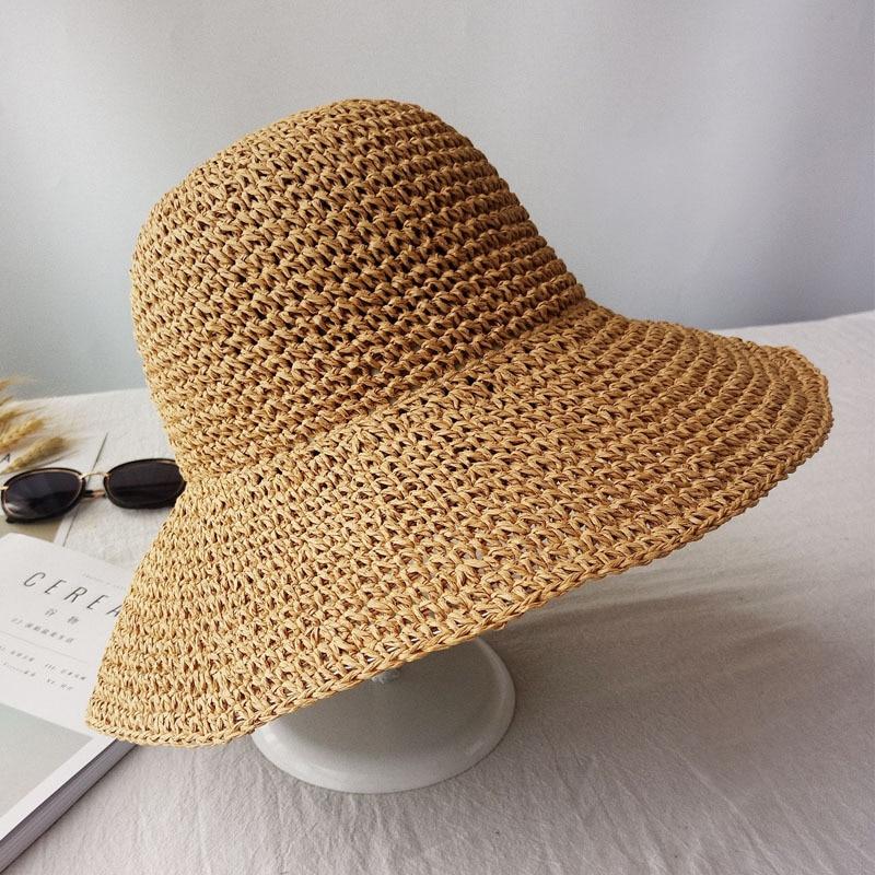 2019 Summer Fashion women Straw Hat Lady Summer Sun Hat Visor cap Panama Style Bucket Cap Strawhat Beach Hat Outdoor girl cap