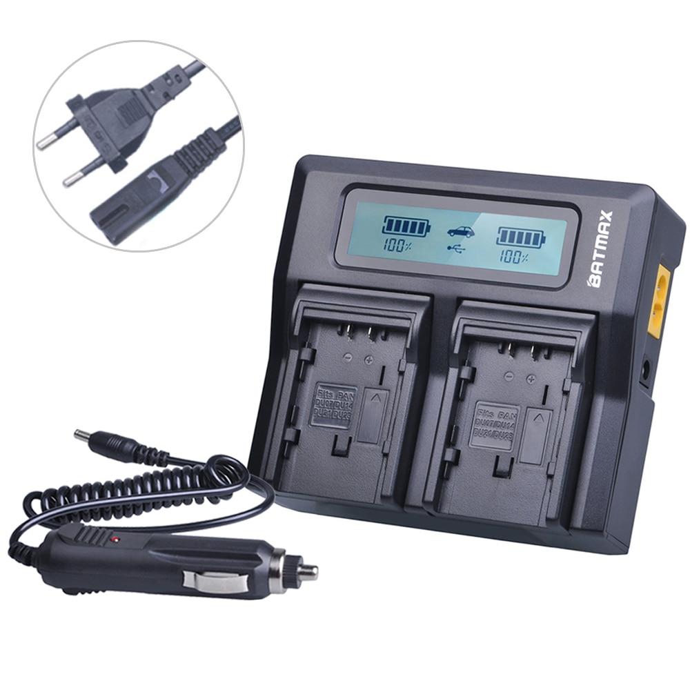 Batmax جدا سريع VW-VBG6 VW VBG6 VWVBG6 LCD المزدوج شاحن لباناسونيك AG-HMC154ER HMC154GK AGHMC154P