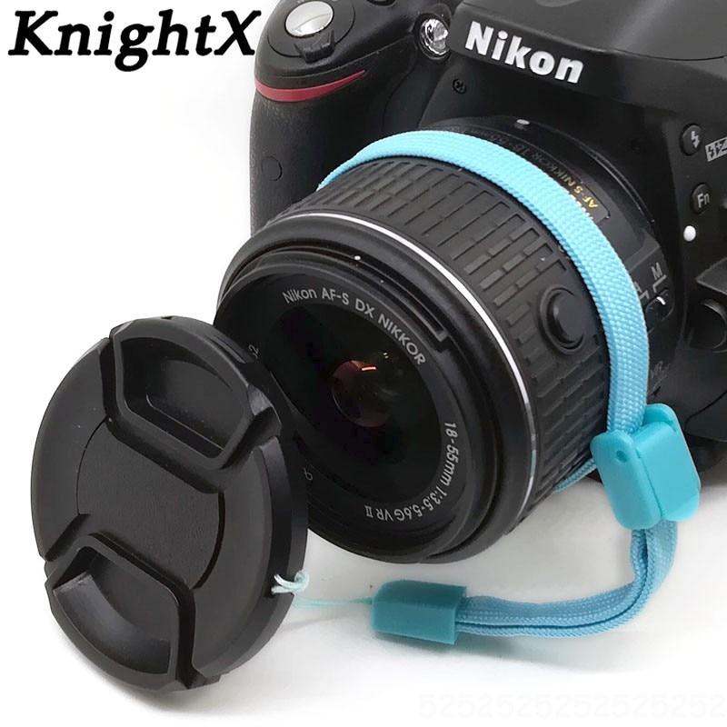 KnightX-Tapa de lente de 49, 55, 58, 62, 67, 72, 77 y...