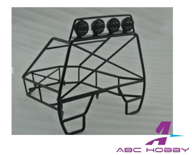 Jaula de rodillo trasero de oruga 1/10 para JEEP D90 Axial SCX10 Rc8WD buscador de senderos TF2 RC camión con LED
