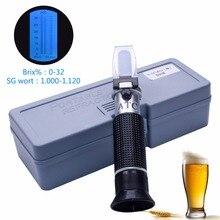 RSG-32ATC à main SG 1.000-1. 120 réfractomètre de bière 0-32% Brix température de référence 20C double échelle avec boîte de vente au détail en plastique