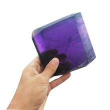 Cube en cristal synthétique Quartz violet islannd   Améthyste Quartz violet, énergie de guérison, pierre de cristal, décoration de maison ou de mariage