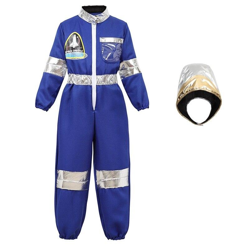 Disfraz de astronauta para niños, juego de rol para niños, niñas y adolescentes, mono de astronauta para niños, traje espacial con capucha, casco para Cosplay