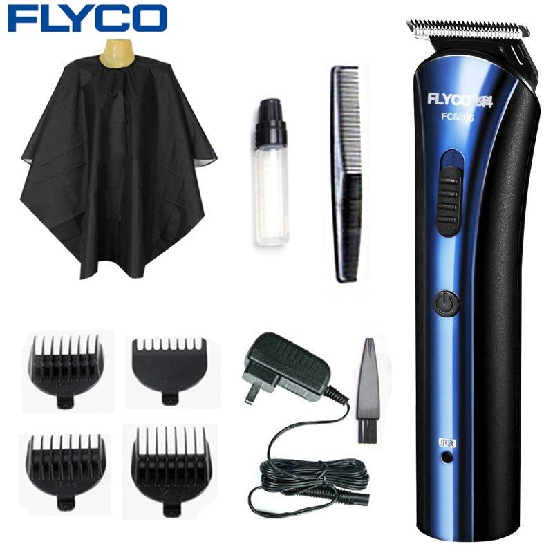 Cortadora de pelo profesional Flyco, afeitadora multifuncional recargable ajustable FC5806