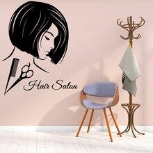 Cartoon Wall Decal hair salon Vinyl Stickers For Beauty Salon Rooms Wall Art Decal Wall Sticker Wallpaper Mural