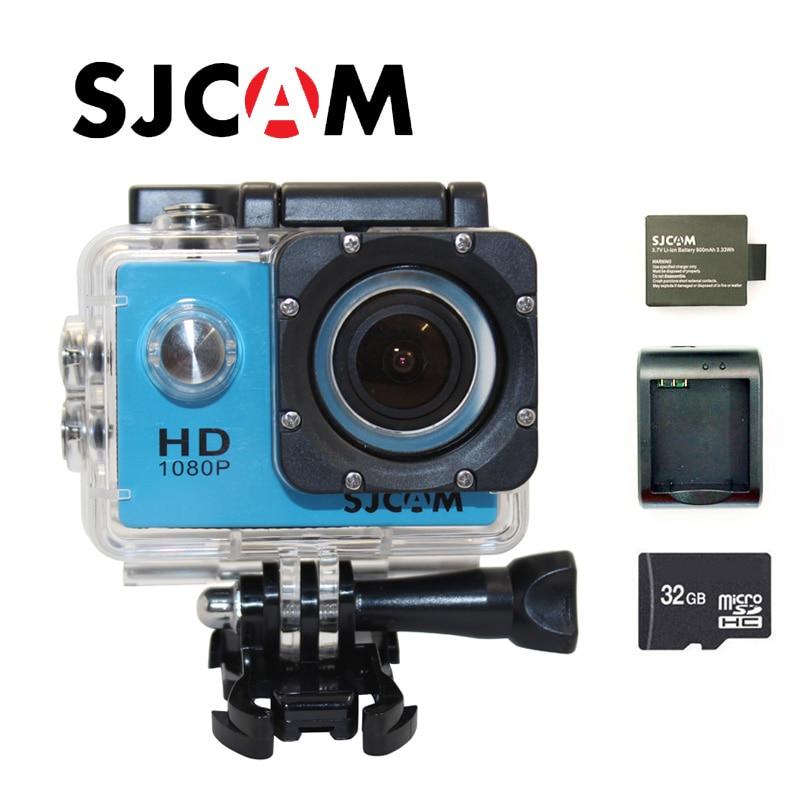 Free shipping!!Original SJCAM SJ4000 FHD 1080P Waterproof Action Camera Sport DVR+Extra 1pcs battery+Battery Charger+32GB Card