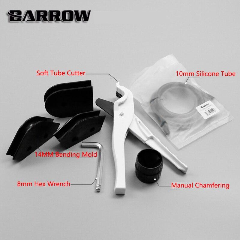 Carrinho de mão ferramenta kit uso para od14mm + id10mm petg tubo cortador 14mm molde dobra 10mm diâmetro silicone barra hex chave conjunto