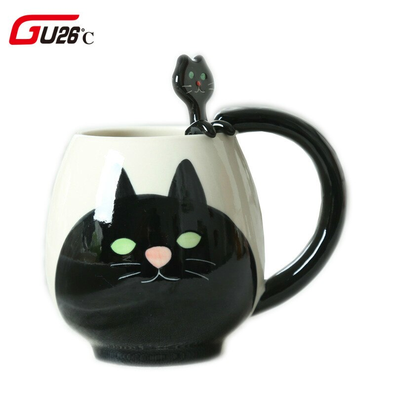 Lindas tazas de té de animales tazas y tazas de cerámica taza de café de cocina taza de dibujos animados gato cerdo oso Rana Panda Drinkware nueva llegada
