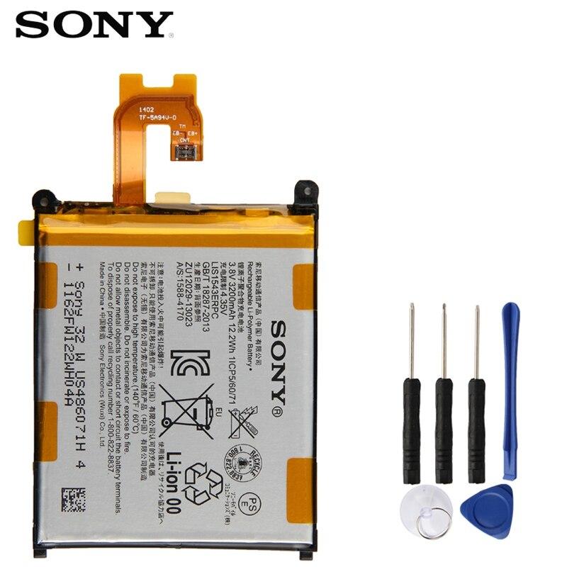 Оригинальная запасная батарея Sony для SONY Xperia Z2 L50w Sirius SO-03 D6503 D6502 LIS1543ERPC натуральная батарея для телефона 3200 мАч