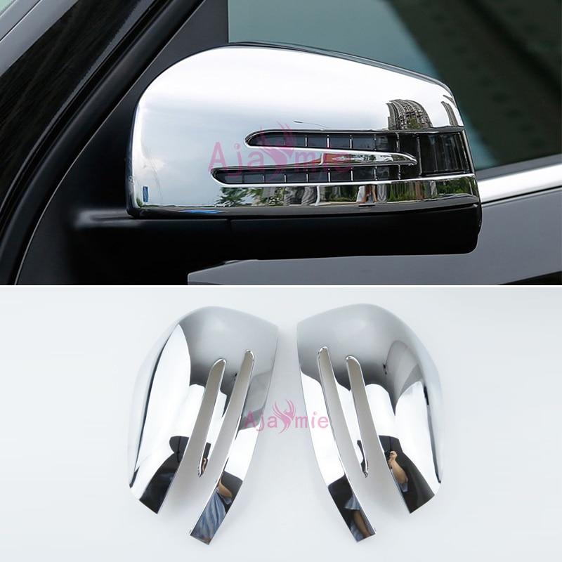 Para Mercedes Benz AMG W166 C292 X166 GLE GL GLS Wagon Coupe Classe Sobreposição de Cobertura Espelho Retrovisor Cromado Carro styling Acessórios