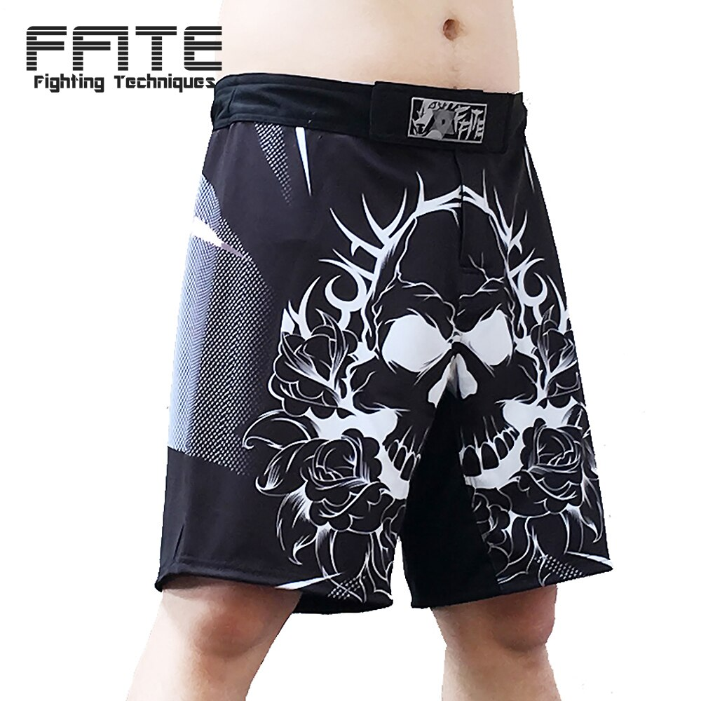 Mma shorts de treinamento masculino curto troncos muay thai boxe kickboxing sanda calças shorts luta
