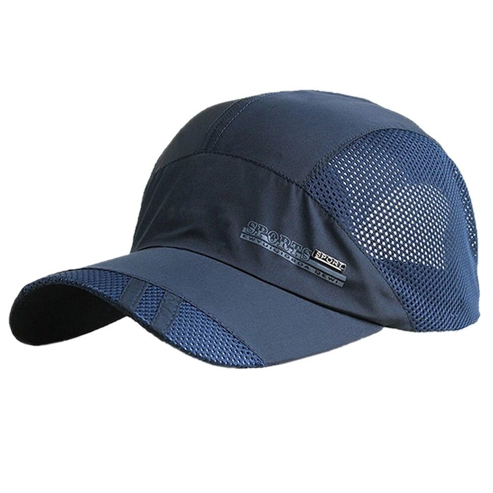 Nueva moda hombres mujeres de verano malla gorra de béisbol-Tapas de Golf deporte al aire libre sombrero de béisbol corriendo Visor Cap gorra de sol sombreros