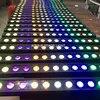 Matrice de lumière led rgbwa uv 6 en 1 14x18w barre de lumière pour l'extérieur lèche-mur linéaire ip 65 lot de 10