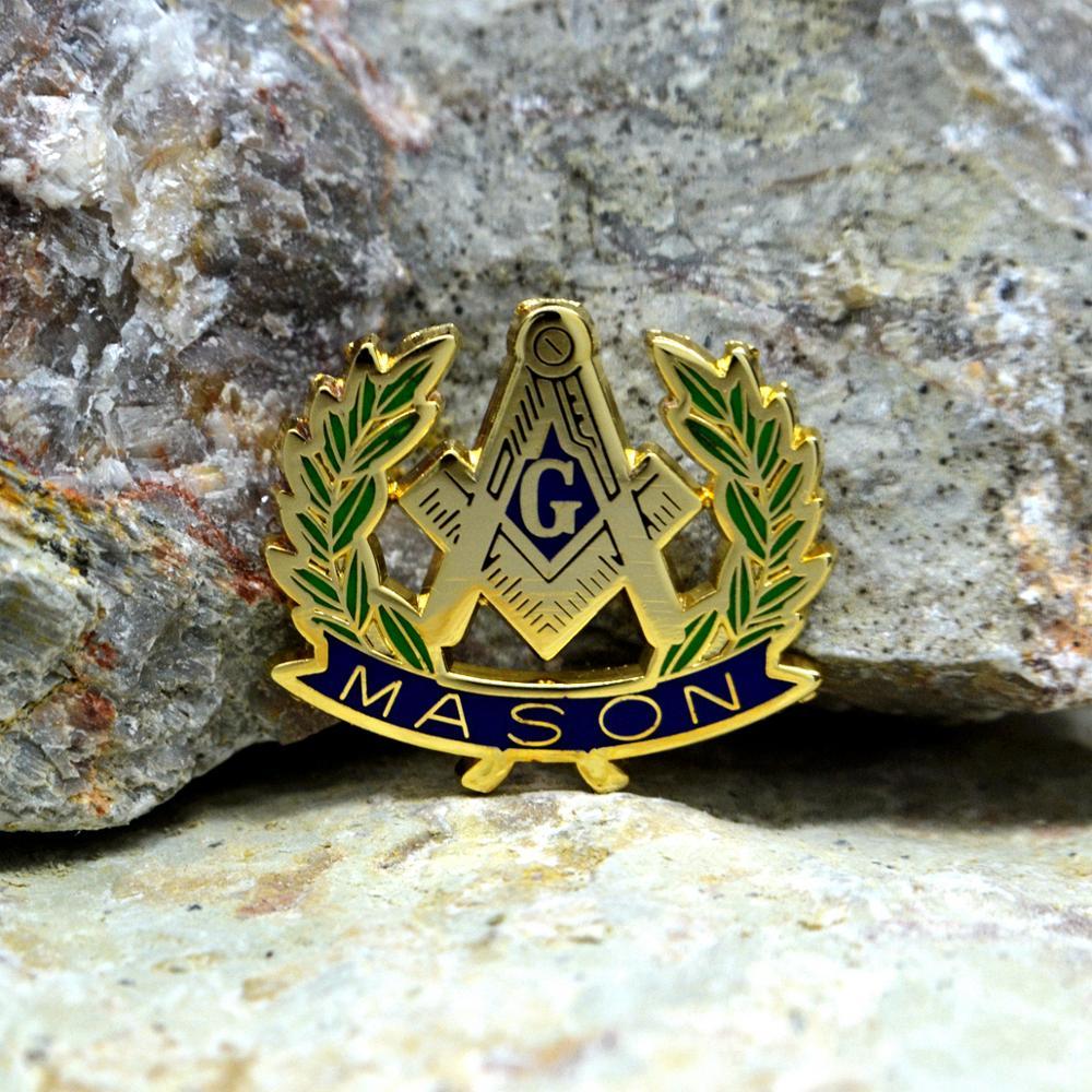 Masonic Lapel Pins Badge Mason Freemason  B70 Olive Branch  Peace MASON 2.6and2.3cm