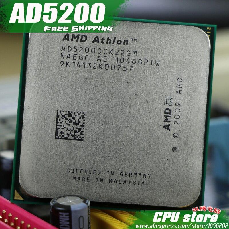 AMD Athlon X2 5200 AD5200 2.3 GHz dual-core CPU Processor AD5200OCK22GM Socket AM3 938 pin AD 5200 CPU  Desktop Processor