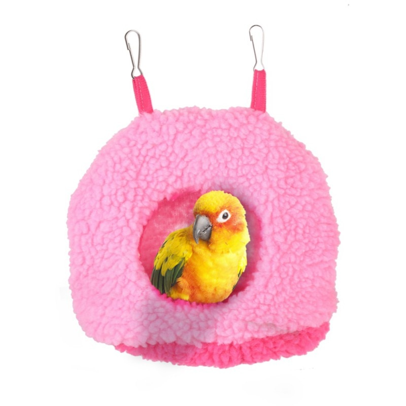 Suave pájaro de peluche hamaca para loro colgante y cálido cama para mascotas cueva jaula cabaña tienda juguete casa ANIMAL PEQUEÑO suministros