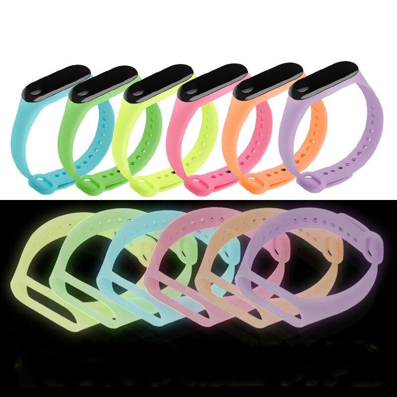 Pulsera para reloj xiaomi Mi band 3, repuesto de correa de silicona colorida y ajustable para pulsera inteligente xiaomi mi 3