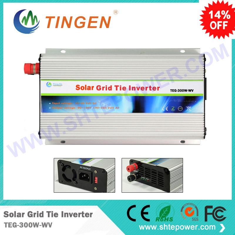 300W Solar Grid Tie Power DC/AC Inverter,optional DC input range 24v/48v (22-60V),Low cost and easy installation