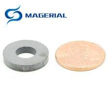 Anneau magnétique en Ferrite OD 17.5x7.5x3.5mm   Grade C8, aimants en céramique pour bricolage, artisanat, haut-parleur, boîte sonore, panneau, sous-Woofer, 1 paquet