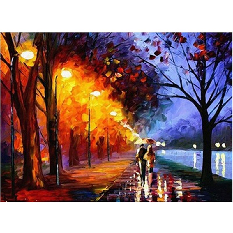 Pintura hecha a mano brillante lienzo de alta calidad pintura hermosa por números regalo sorpresa gran logro