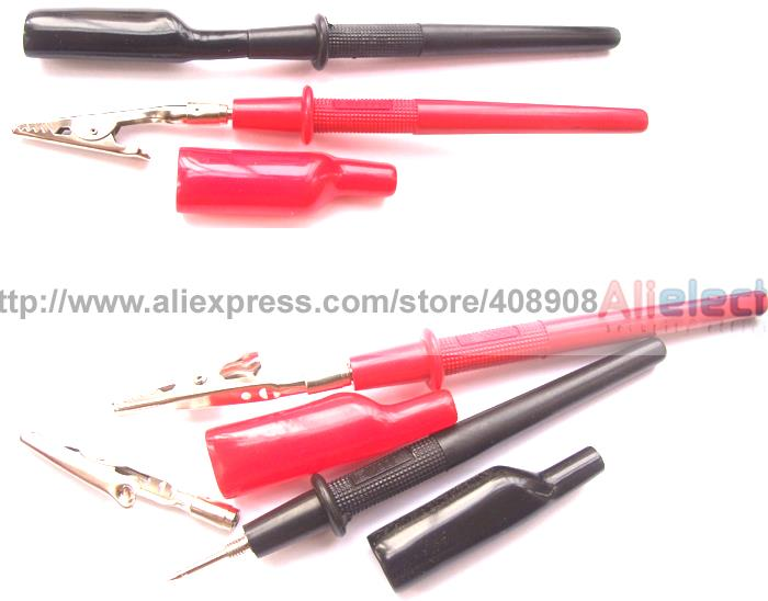 10 Set Multimeter Pen to Alligator Clips for Test Probes Clamp Cable Soldering DIY