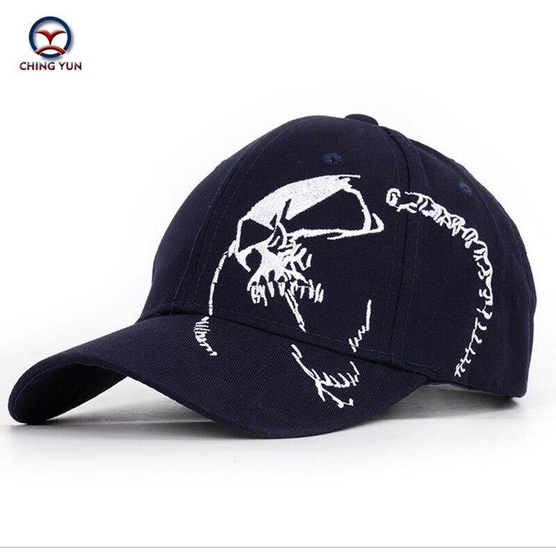 Бейсболка CHING YUN, брендовая Кепка высокого качества с вышитыми буквами и рисунком в виде черепа, уличная Кепка унисекс для отдыха
