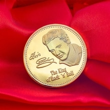 Pièce commémorative Elvis Presley Collection cadeau dart BTC Bitcoin alliage Souvenir