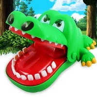hot sell creative practical jokes mouth tooth alligator hand childrens toys family games classic biting hand crocodile game