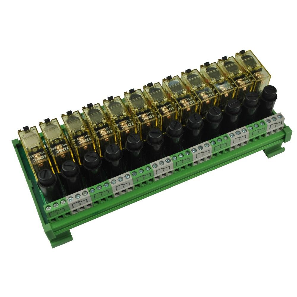 12 канальный 1 SPDT DIN рейка IDEC RJ1S с модулем реле интерфейса предохранителя|din mounting