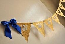 Guirlande couronne banderole Prince Royal   Banderole, bon marché Décoration réception-cadeau pour bébé   Fête de révélation du genre, accessoire Photo