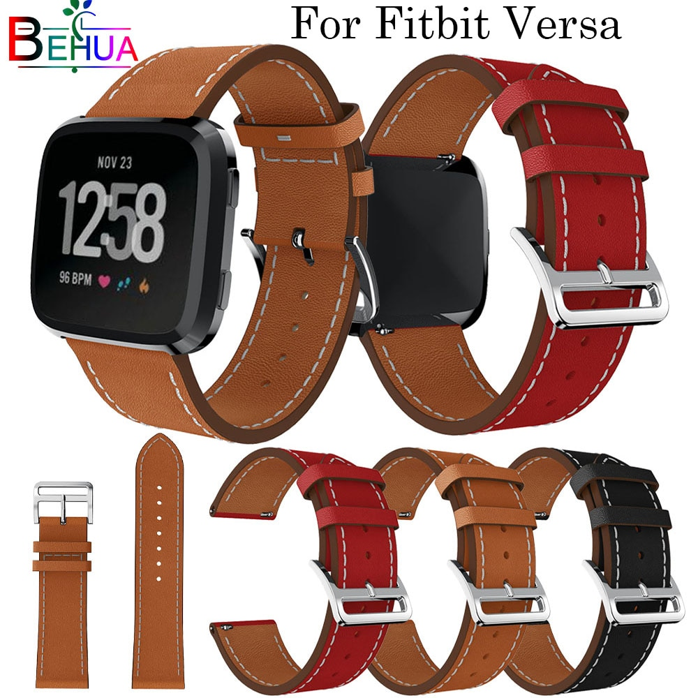 Top Leather strap For Fitbit Versa Smart Watch Replacement Sport fashion Goods Strap Bracelet Wristband Band Straps bracelet