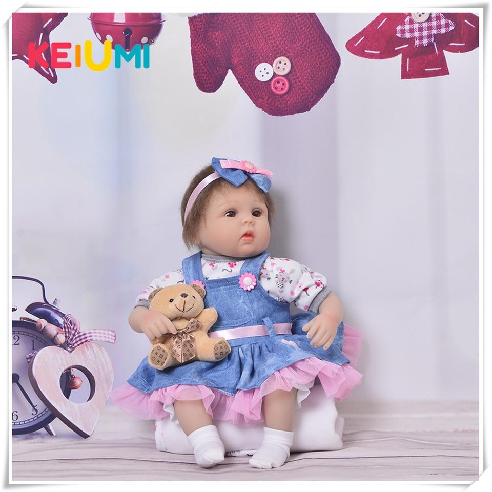 Bebés Reborn realistas de 17 pulgadas, Mohair de 42 cm, muñecas para bebés recién nacidos realistas, regalos de cumpleaños para niños, juguetes para bebés, venta