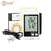 BSIDE BTHA01 USB לחות נתונים לוגר טמפרטורת w/בדיקה מובנה אזעקת קול האור תצוגה גדולה