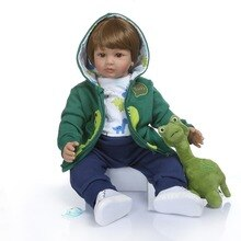 60cm Silicone Vinyl Reborn Baby Boy Doll Toys 24inch reborn Toddler Babies Doll Kid Birthday Gift  Girls bebes reborn Boneca