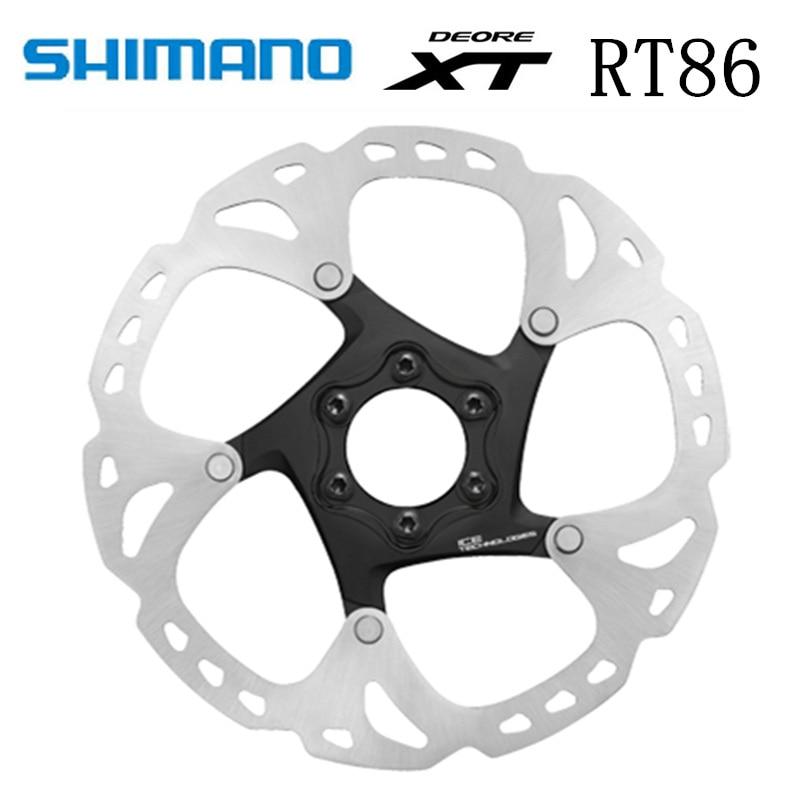 Disco de freno SHIMANO XT SM RT86 RT76, tecnología de punto de hielo, 6 pernos, disco de bicicletas de montaña M8000, SHIMANO RT86, 160 MM, 180 MM, 203 MM, MTB