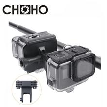 Support pistolet Archers fusil canne à pêche flèche retenue Base fixe Clip trépied fixation pince pour GoPro Hero 5 6 7 Go Pro accessoires