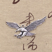 10 pièces breloques Hawk Eagle 28x50mm Antique couleur argent plaqué pendentifs faisant bricolage à la main tibétain couleur argent bijoux