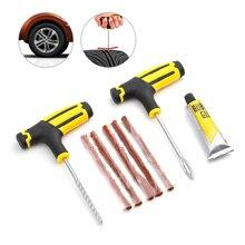 Kit de réparation de pneus de voiture   Outil de réparation de pneus de voiture, Kit doutils de stupage, moto Tubeless, bouchon de perforation de pneu, accessoires de voiture pour Garage