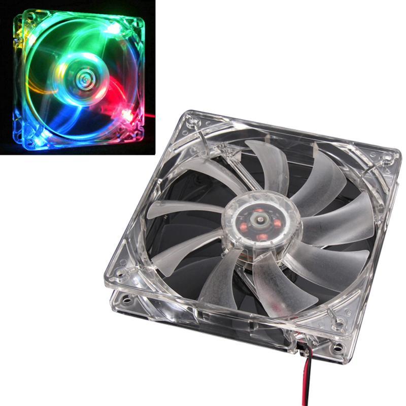 Ventilador enfriador de cpu master rgb, luz LED colorida, radiador claro de neón, 120mm, carcasa de PC, ventiladores, refrigeración Mod, dropshipping