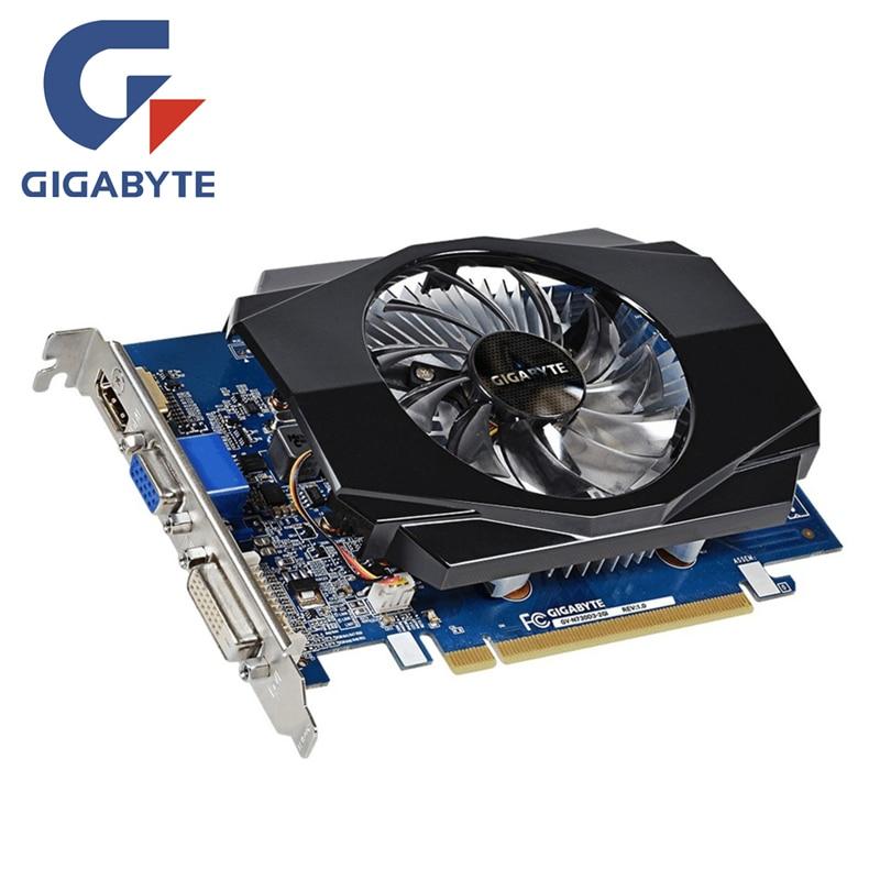 GIGABYTE GT 730 2GB Graphics Card Map 128Bit GDDR3 GT730 2GB Video Cards for nVIDIA Geforce GT730 D3 HDMI Dvi VGA VideoCard N730