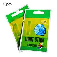 10 bags/Set Angeln Float Licht Stick Leuchtstoff Leucht Nacht Float Stange Licht Dark Glow Stick Nützlich Viele Angelgerät
