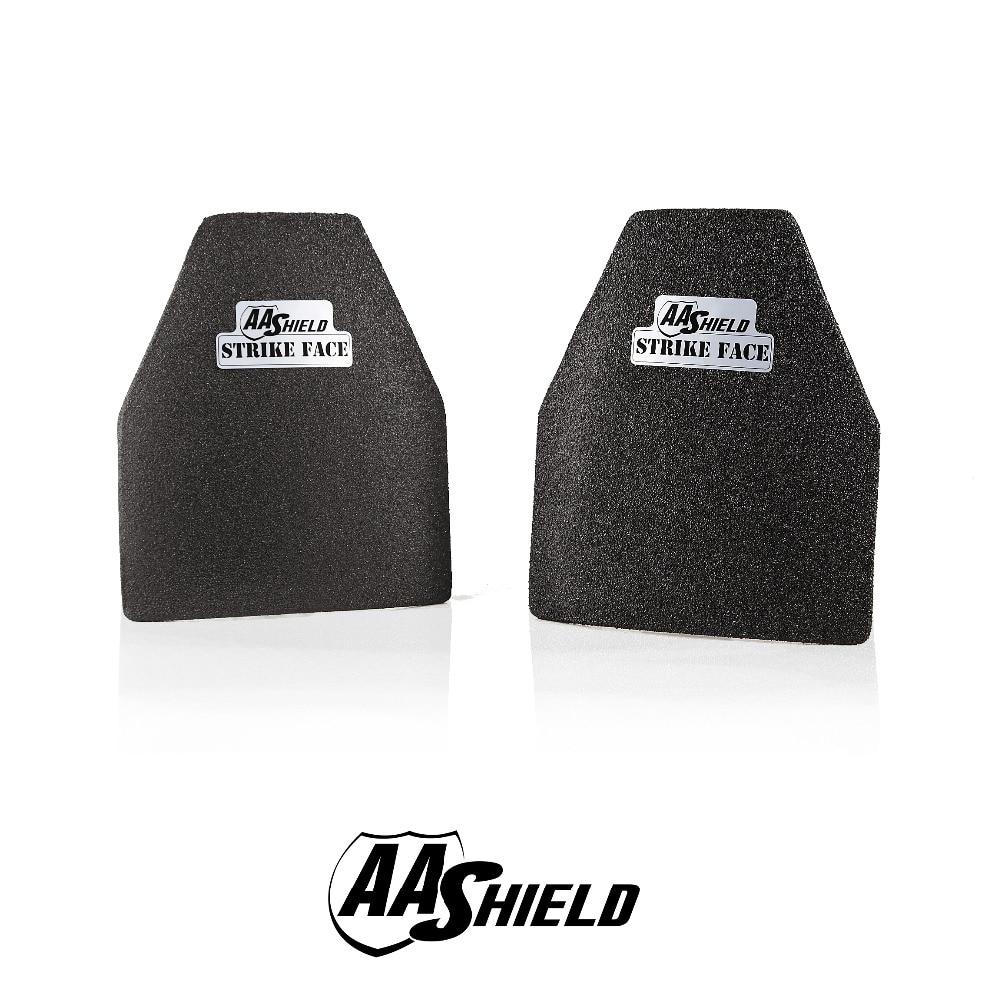 AA Shield a prueba de balas placa dura cuerpo armadura inserta seguridad nadador corte NIJ nivel IIIA 3A Ultra-ligero peso 10x12 #3 par