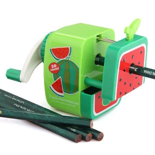 2018 New Affordable Watermelon Pencil Sharpener Hand Crank Manual School Stationery Kids Random Color