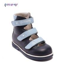 Princepard-sandales dété pour garçons   En cuir véritable, orthopédique, chaussures plates pour tout-petits garçons, chaussures à bout fermé pour enfants, 2018