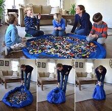 Sac de rangement Portable pour jouets denfants   Tapis de jeu, Lego, boîte de rangement de jouets XL sacs de rangement pratiques