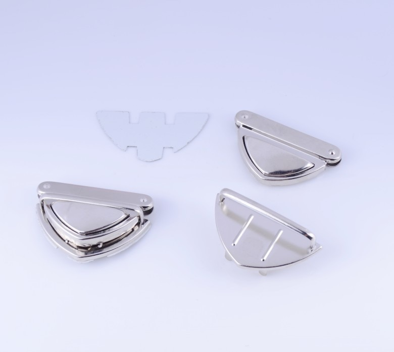Free Shipping-5 Sets Silver Tone Handbag Bag Accessories Purse Twist Turn Lock 33x52mm J1808